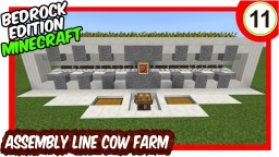 Assembly Line Cow Farm W Wheat Farm Bedrock Edition Minecraft Map