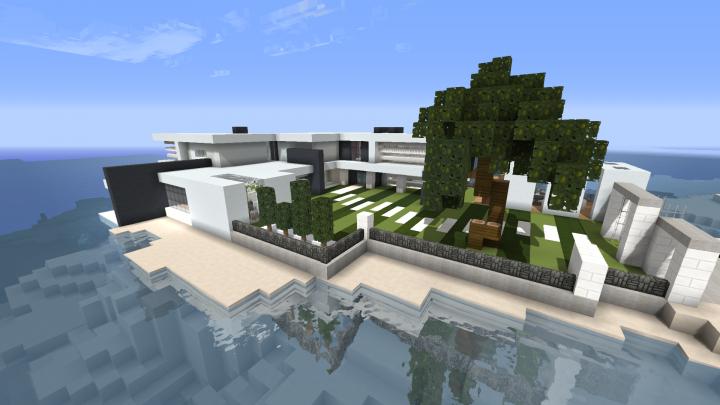 Small Modern Island House Minecraft Map