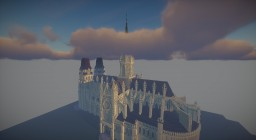 Gothic Cathedrale by zRookey | Notre Dame de Bayeux | Original by zRookey Minecraft Map & Project