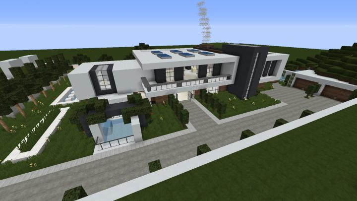 Modern House No Interior Minecraft Map
