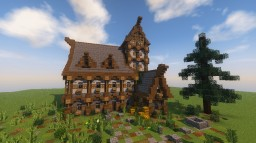 Medieval/Fantasy House Minecraft Map & Project