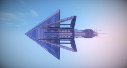 ''Just Futuristic Spaceship #2'' Minecraft Map & Project