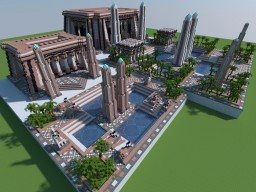 Age of Empires - Egyptian Town & Government Center (2 sizes) Minecraft Map & Project