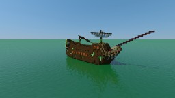 Spooky Ghost Ship Minecraft Map & Project