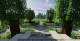 Modern/Medieval Park (Center and Fort/Castle) Minecraft Map & Project
