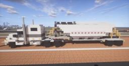Peterbilt 389 Sleeper Truck & Dry Bulk (cement) Trailer Minecraft Map & Project