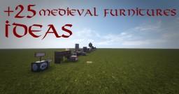 +25 Medieval Furniures Ideas #WeAreConquest Minecraft