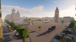 Cracow, Market Square [realistic, 1:1] Minecraft Map & Project
