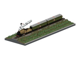 WWI Ambulance train | 1,5:1 diorama Minecraft Map & Project