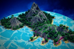 """All that glitters is not gold""-Lost Island Terraforming Contest Minecraft"
