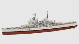 British Battleship HMS Vanguard Minecraft