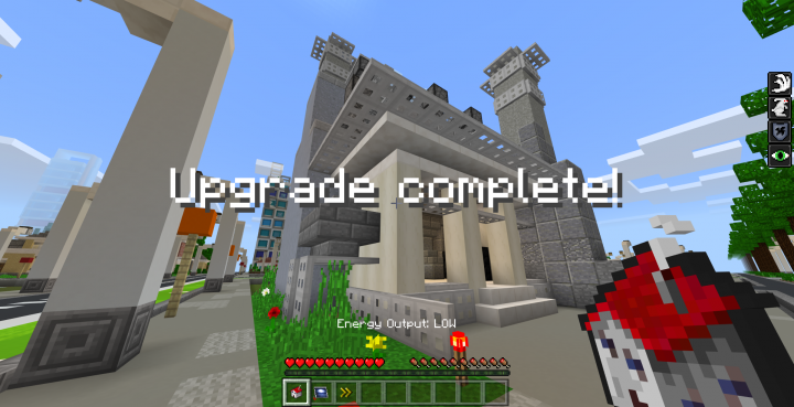 Houses and power stations are upgradable!