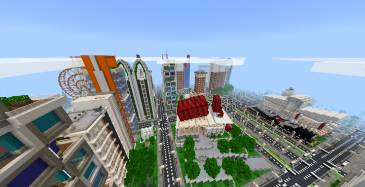 The town hall will display all your city's statistics, and is the centre point of the map