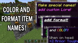 Item Name Formatting Station 1.14 Datapack Minecraft Data Pack
