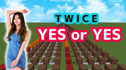 TWICE(트와이스) - Yes or Yes/Minecraft noteblock cover & tutorial Minecraft Map & Project