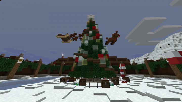 Festive Christmas Tree Minecraft Project