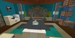 Livingroom with fireplace 1.13 Minecraft Map & Project