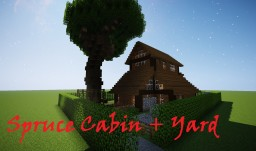 Spruce Cabin +YARD Minecraft Map & Project