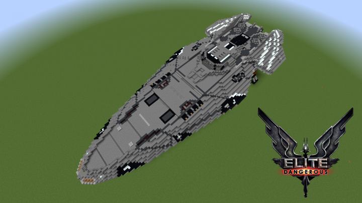 Faulcon Delacy Anaconda Elite Dangerous Minecraft Project
