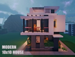 10 x 10 Contemporary House 1 Minecraft Map & Project
