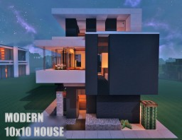 10x10 Contemporary House :) Minecraft Map & Project