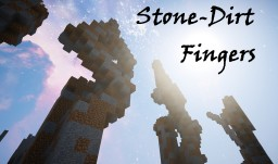 "STONE DIRT FINGERS ""20 Pack!"" Minecraft Map & Project"