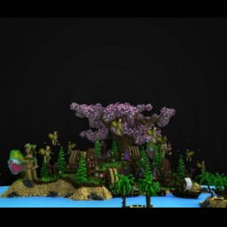 """New lobby :D """"Fairy village"""" Minecraft Map & Project"""