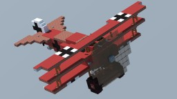 Fokker Dr.I 'Red Baron' (4:1 Scale) Minecraft