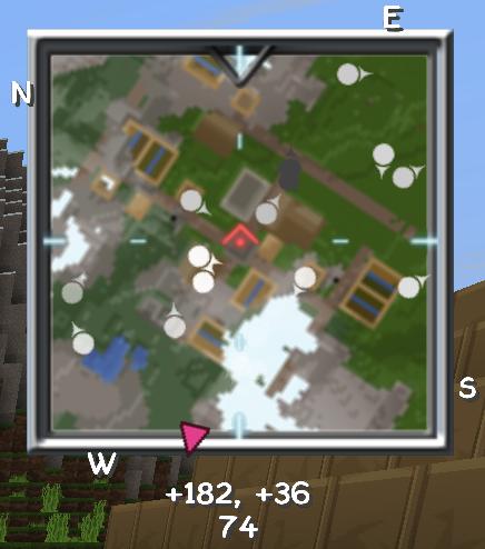 Optional rotating square map and simple radar