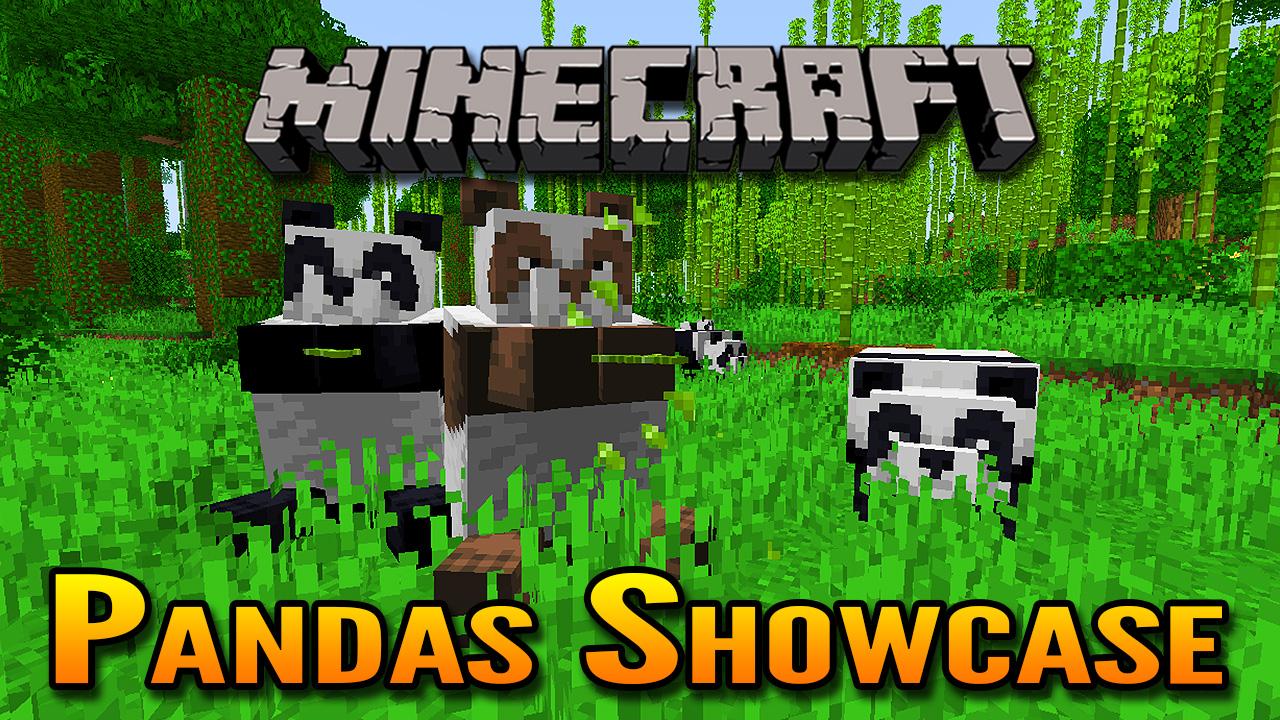 Minecraft 1 14 Village And Pillage Update Panda Bears Showcase