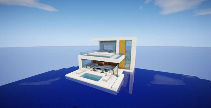 Modern House Floating Minecraft Map