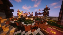 Spawn Hub Orange Medieval [DownLoad] Minecraft