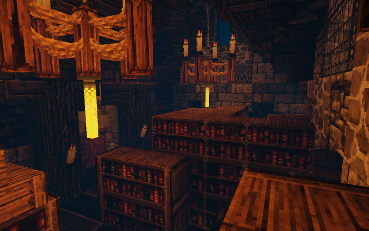 Wouldn't call it a library, but yeah there's books everywhere