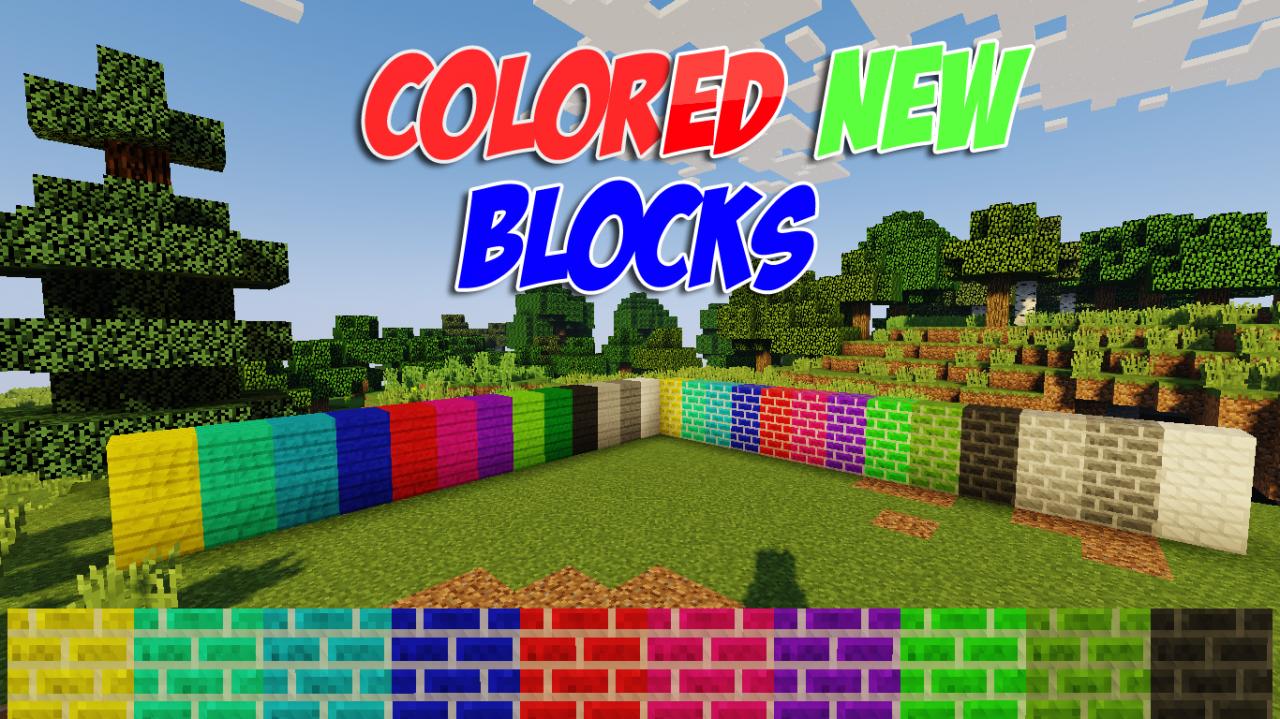 COLORED NEW BLOCKS Minecraft Mod