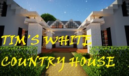 Tim's WHITE COUNTRY HOUSE +YARD Minecraft Map & Project