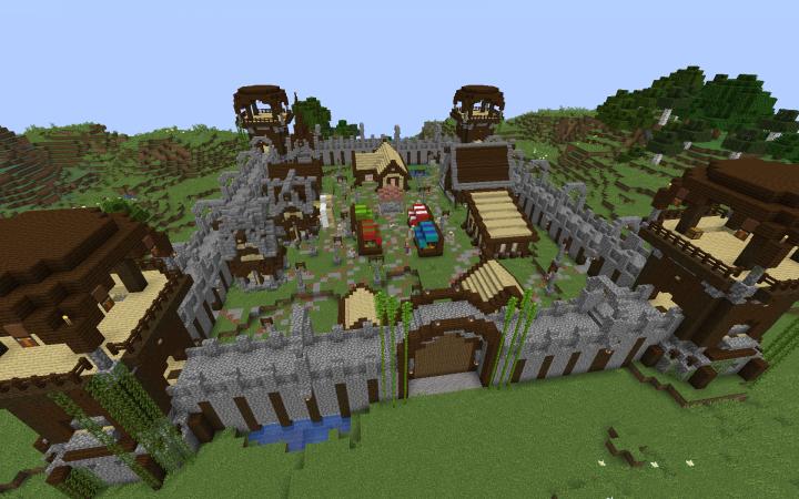 Village And Pillage Village Minecraft Project