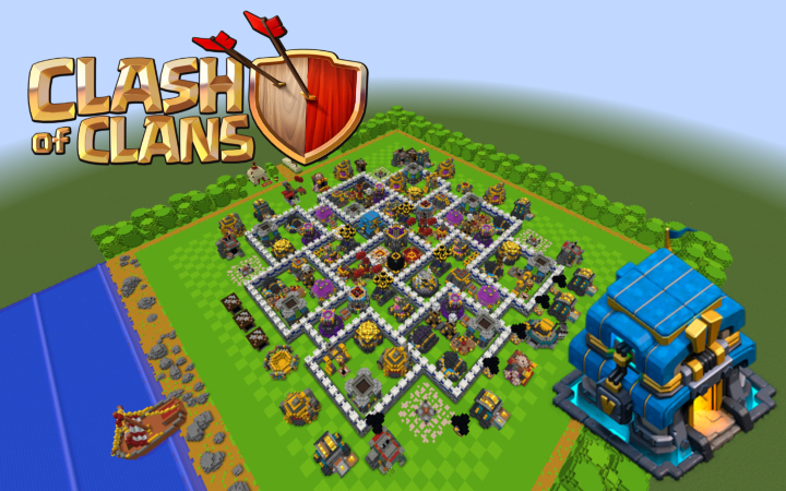 Clash of Clans | MAXED TH12 Base Minecraft Project