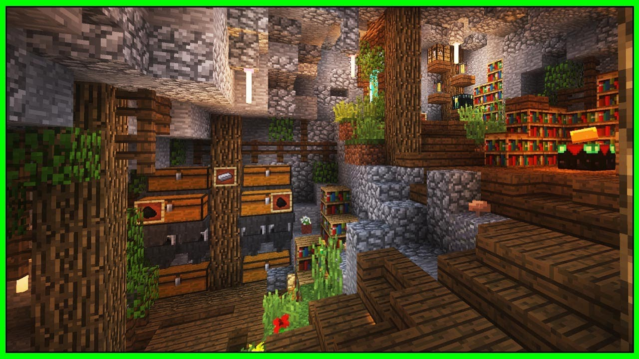 minecraft cave house seed
