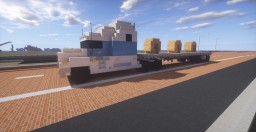 Kenworth T680 Sleeper Semi Truck & Flatbed Trailer Minecraft Map & Project