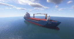 Sea Steamer (1:1 Scale Cargo Ship Replica) Minecraft Map & Project