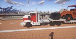 Freightliner & Trailer and Doosan DL250 loader Minecraft