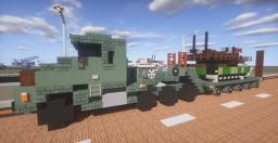 Army Oshkosh M1070 + M1000 Transporter + M1A2 Abrams Tank Minecraft