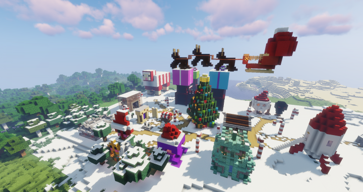 Christmas Minecraft Decorations.Husscraft Shopping District Christmas Decorations Minecraft