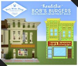 Bob's Burgers Restaurant & Apartment Minecraft Map & Project