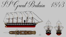 SS Great Britain - 1 to 1 Minecraft Map & Project