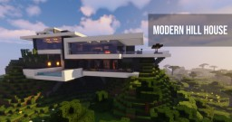 Modern Hill house #2 Minecraft Map & Project