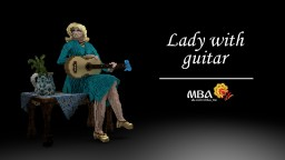 Lady With Guitar Minecraft Map & Project