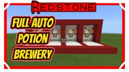 100% Fully Automatic Potion Brewing Station Minecraft Map & Project