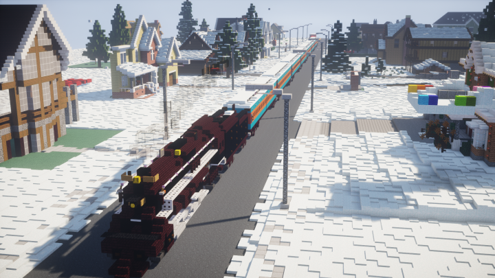 polar express christmas house building contest taking place on foxshot