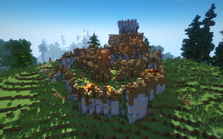 Bandit ruined fortification Minecraft Project